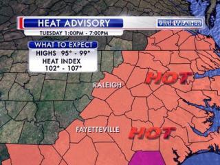 Heat advisory: July 21, 2015