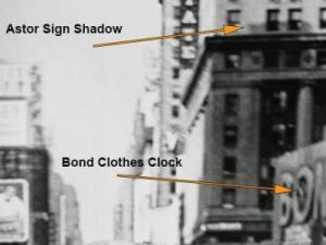 "Researchers used clues in the shadows cast by the afternoon sun onto buildings to determine when the iconic ""Kissing Sailor"" photograph was taken (Credit Eisenstaedt/Life Magazine)"