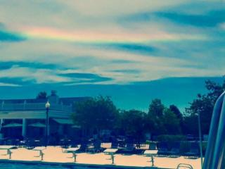Photo from Austin brooks of cirrus clouds producing a cicumhorizontal arc on August 22, 2015.