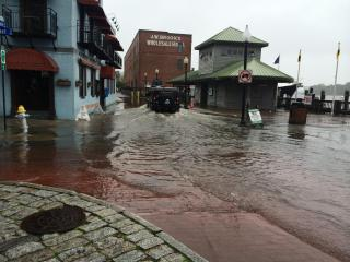 Monday's high tide brought about 5 inches of water back onto Water Street in downtown Wilmington.