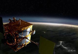Japan's Akatsuki or Venus Climate Orbiter at Venus. (Credit: Akihiro Ikeshita/JAXA)