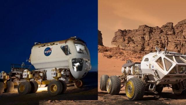 NASA's Multi-Mission Space Exploration Vehicle (MMSEV) inspired the movie's Mars Ascent Vehicle (MAV) (Credit: NASA/JSC, Fox)