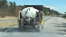DOT trucks spread brine