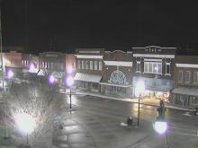Snow falls in Roxboro