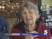 Durham residents head to the grocery store ahead of winter storm