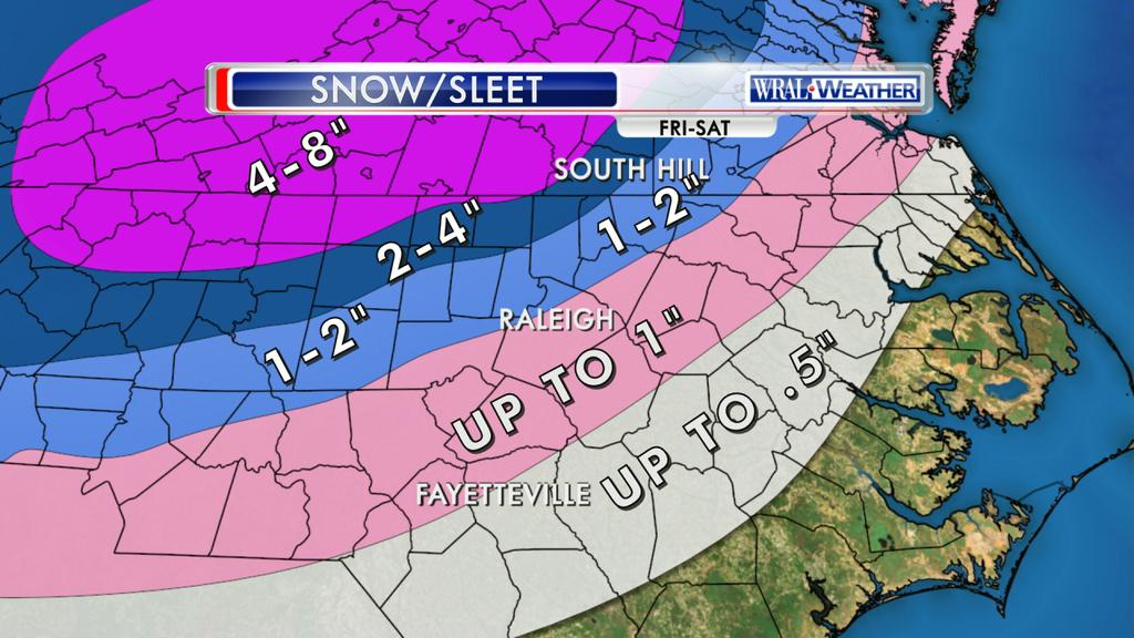 European weather model snow forecast for north carolina