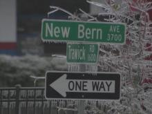Downed power lines close New Bern Avenue