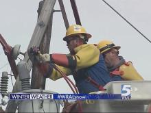 Crews work to restore power to residents in Franklin County