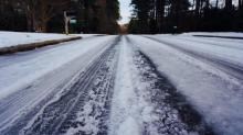 IMAGES: Snow, ice-covered secondary roads still a problem in parts of Wake, Durham counties
