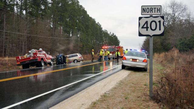 Wreck on NC Highway 401