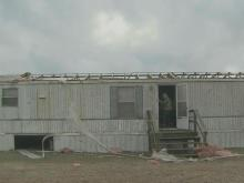 Strong winds destroy mobile home in Wayne County