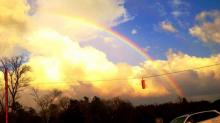 IMAGES: Rainbows emerge after severe Wednesday weather