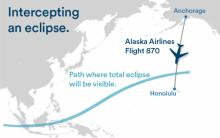 Alaska Air flight 870 will offer passengers a rare view of a total eclipse from 37,000 feet (Credit: Alaska Air)