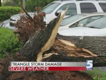 Heavy wind, hail from Thursday storm damages property