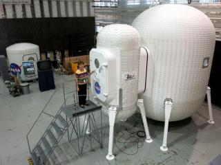 NASA's Langley Research Center in Hampton, Va., studies inflatable habitat technologies for astronauts on the moon or Mars (Credit: NASA LaRC)