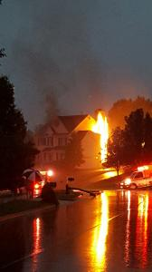 Lightning damages Apex home