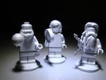 NASA partnered with LEGO to create some special passengers: 3 mini-figurines, milled from a space-grade aluminum, of Jupiter, Juno, and Galileo Galilei who discovered Jupiter's four largest moons.