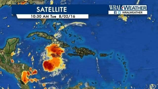 The National Hurricane Center has determined the disturbance south of Cuba meets the criteria -- it will be named Tropical Storm Earl by noon.  This is a threat to Cuba, the Gulf of Mexico, and Central America... but not to NC.