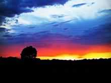 Storms that moved quickly through North Carolina Sunday evening made way for rainbows and beautiful sunsets.