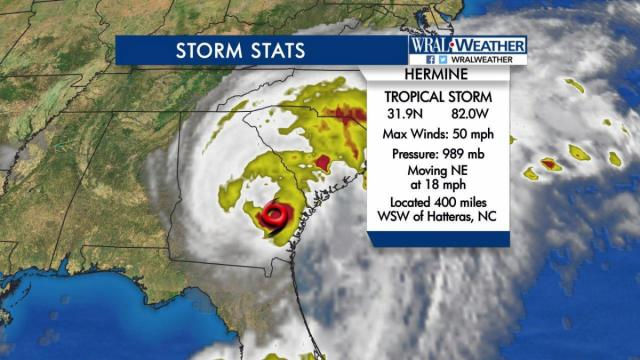 Hermine update: 11 a.m. on Sept. 2, 2016