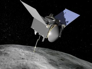 Artist rendition of OSIRIS-REx at Bennu (Credit: NASA)