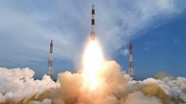 Monday 9:12 AM IST, Polar Satellite Launch Vehicle (PSLV-C35) launched eight satellites into different orbits (credit: European Space Agency)