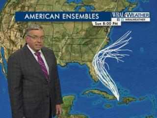 The American model on Tuesday night showed a dramatically different path for Hurricane Matthew.