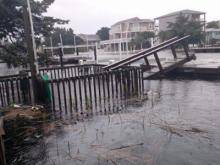 Damage at Holden Beach