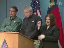 Gov. McCrory: 10 confirmed deaths in NC, 5 people missing