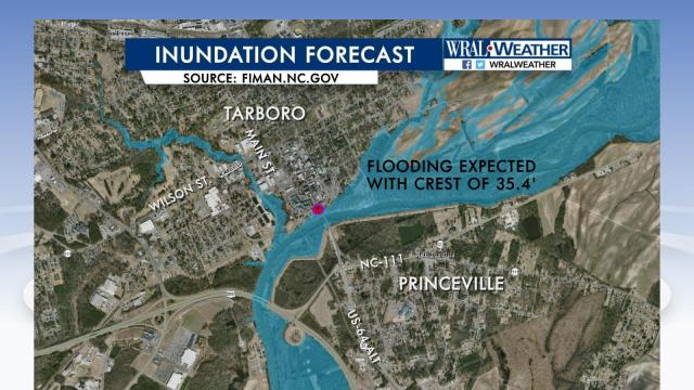 Tarboro/Princeville inundation forecast