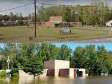 Flood waters in Robeson County