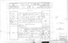 Segregated cafeteria facilities are shown on the North end of the first-floor in this 1947 Langley Memorial Aeronautical Laboratory  floor-plan (Image: NASA LaRC)