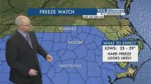 IMAGES: Overnight temps dip below freezing, cold and dry end to the weekend