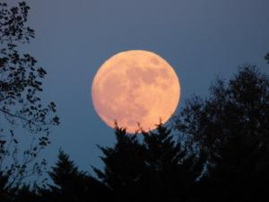 The supermoon could be seen over Rougemont Sunday night.