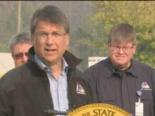 McCrory updates wildfire conditions in western NC