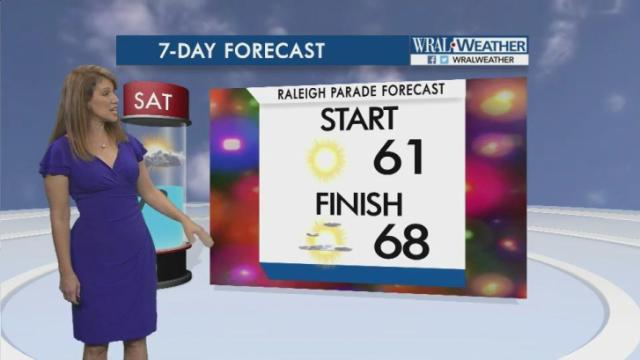 Christmas Parade forecast, 2016