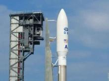 Friday was rollout day for GOES-R. Stacked atop an Atlas V rocket in the adjacent 286-foot-tall Vertical Integration Facility (VIF) several weeks ago, the satellite, rocket and mobile launch platform made the third-of-a-mile trek along two sets of rails at a snail's pace from the VIF to the launch pad.