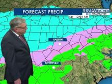 WRAL meteorologists track the path of a system that could bring snow to the Triangle on Friday and Saturday.
