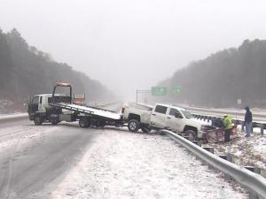 Crash on I-40