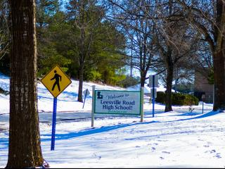 Leesville Road High School after a winter storm on Sunday, Jan. 8, 2017. (Photo By: Nick Stevens/WRAL)