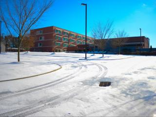 Wake Forest High School after a winter storm on Sunday, Jan. 8, 2017. (Photo By: Nick Stevens/WRAL)
