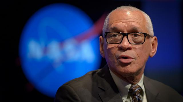 NASA Administrator Charles Bolden speaks during the final NASA town hall event with NASA Deputy Administrator Dava Newman, and NASA Associate Administrator Robert Lightfoot, Thursday, Jan. 12, 2017 at NASA Headquarters in Washington. Photo Credit: (NASA/Bill Ingalls)
