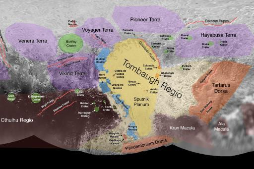 Pluto place names