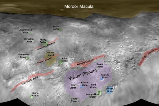 Charon place names