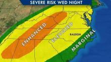 IMAGES: Record breaking warmth could precede potentially damaging Wednesday storms