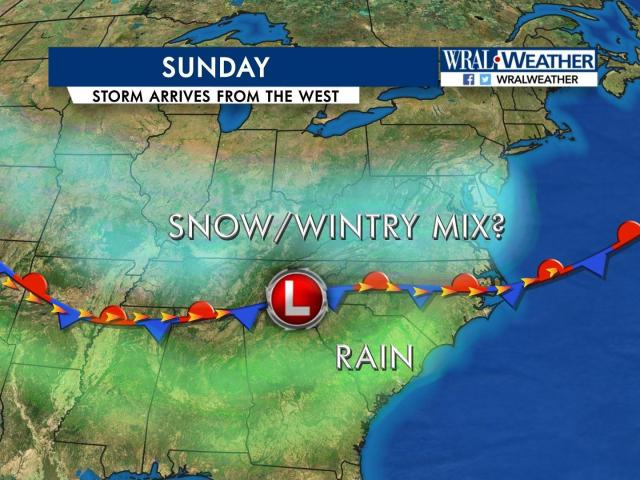 Wral Weather Maps Low pressure line will show who gets snow :: WRAL.com