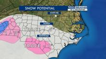 Sunday snow potential