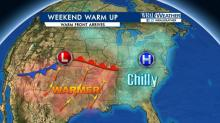 IMAGES: Weekend will be warmer for all, wetter for some