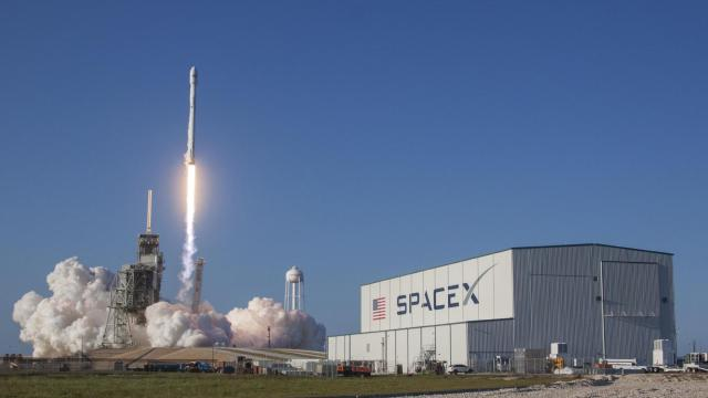 A Falcon 9 rocket lifts off from the Kennedy Space Center on a refurbished booster previously landed off the Florida coast nearly a year earlier. (Credit: SpaceX)