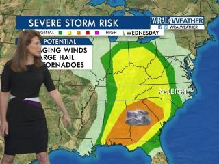 Severe weather risk, Wednesday, April 5, 2017